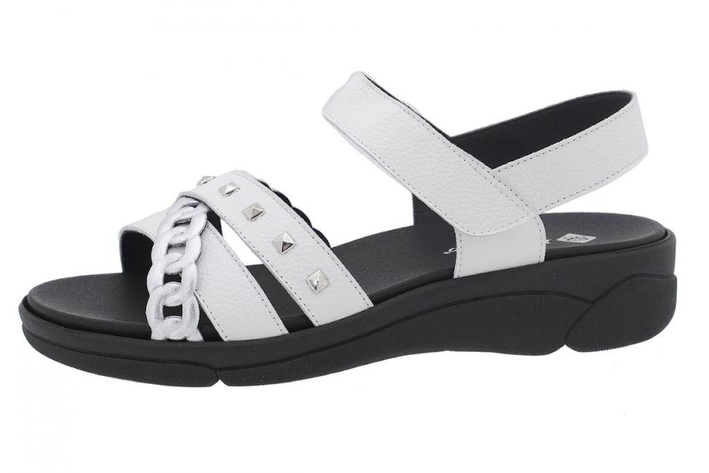 Removable Insole Sandal Silver Metal 210795
