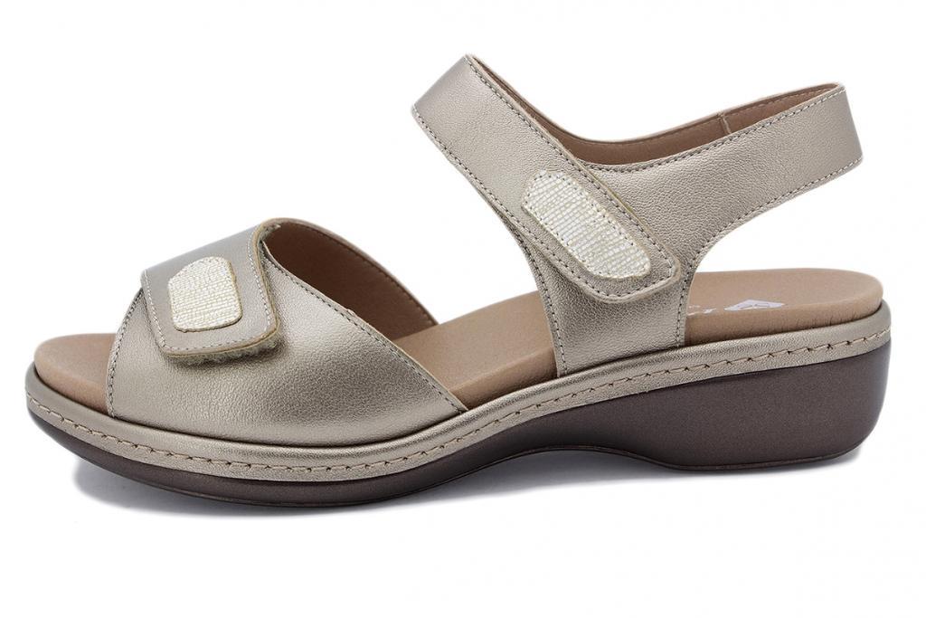 Removable Insole Sandal Mink Metal 210802