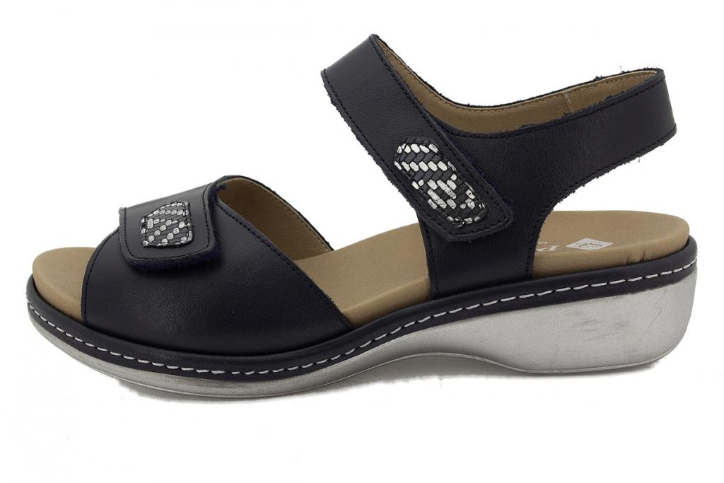 Removable Insole Sandal Blue Leather 210802