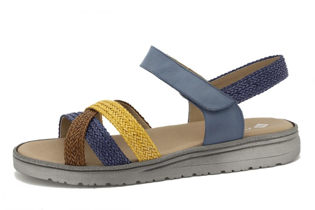 Removable Insole Sandal Moka-Blue-Curry Interlaced 210809