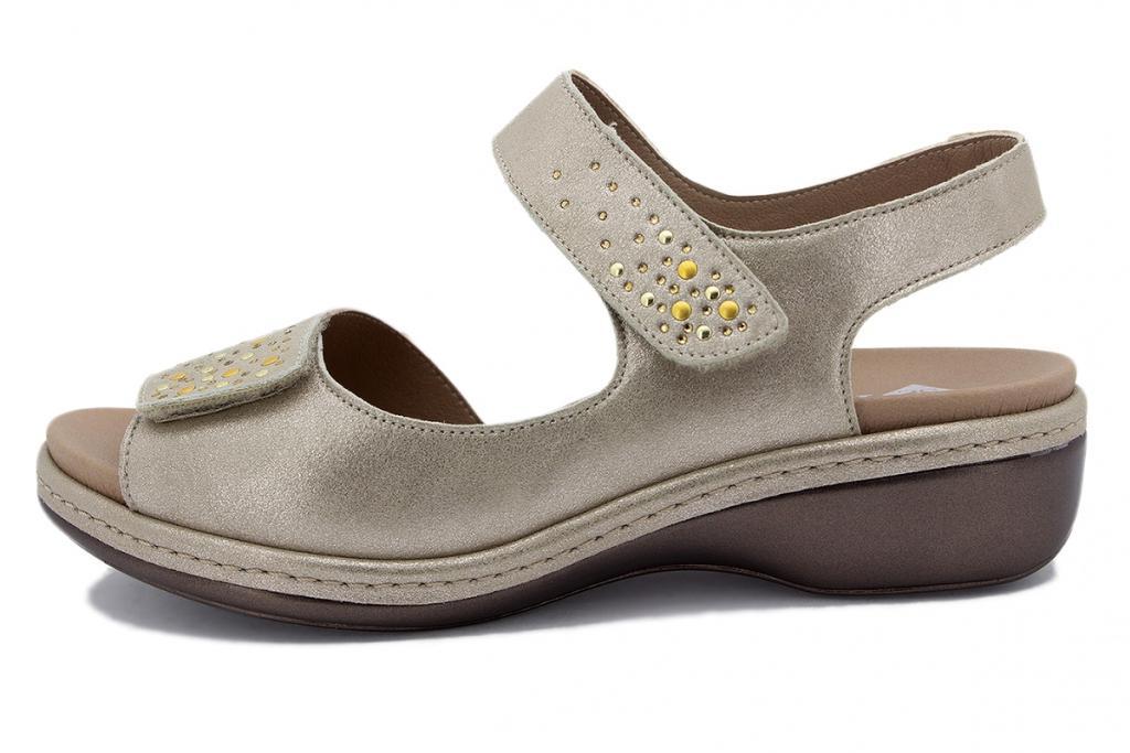 Removable Insole Sandal Mink Metal Suede 210818