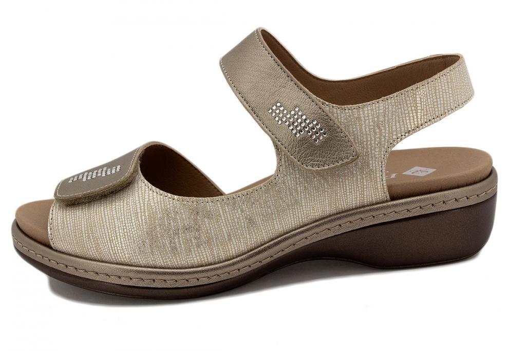 Removable Insole Sandal Mink Metal 210820