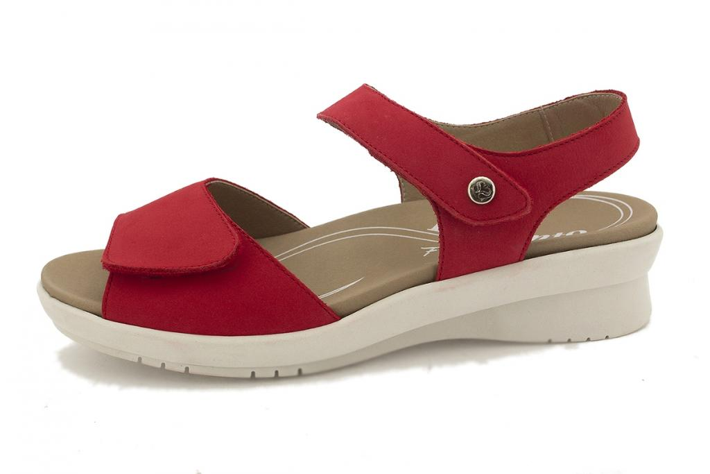 Removable Insole Sandal Red Nubuck 210892