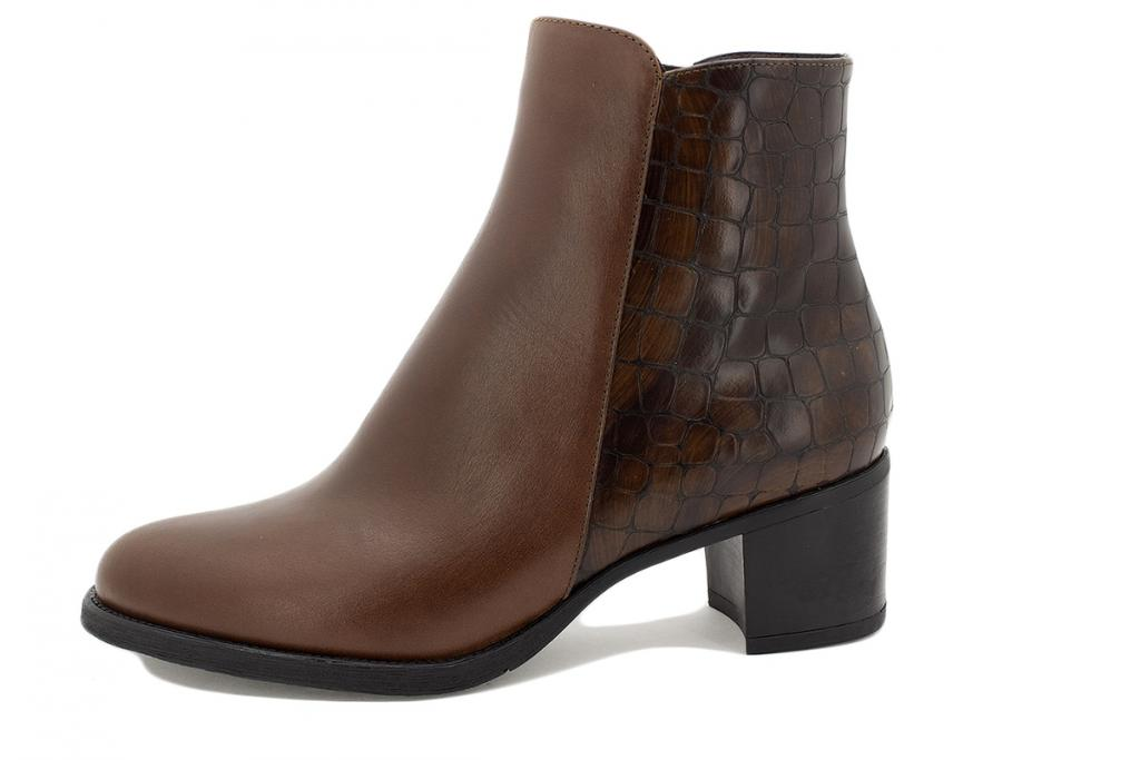 Ankle boot Coffee Leather 215445