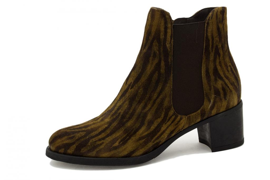Ankle boot Tan Print 215447