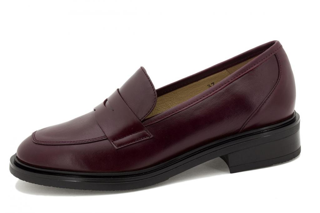 Moccasin Bordeaux Leather 215527