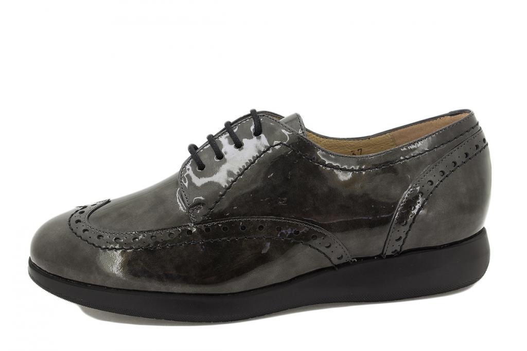 Lace-up shoe Grey Patent 215540
