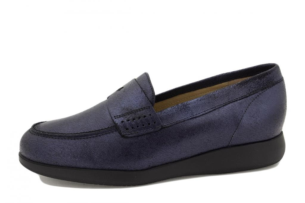 Moccasin Blue Leather 215544