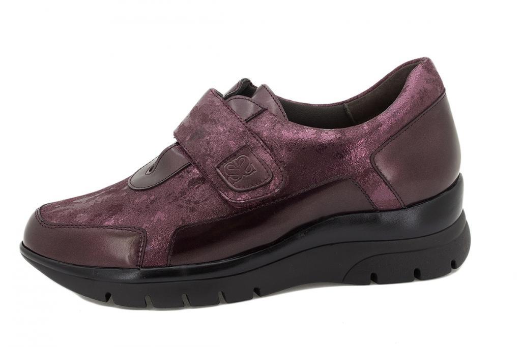 Velcro shoe Bordeaux Metal 215567