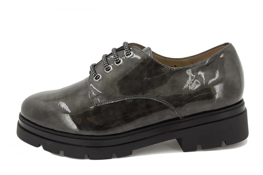 Lace-up shoe Grey Patent 215675