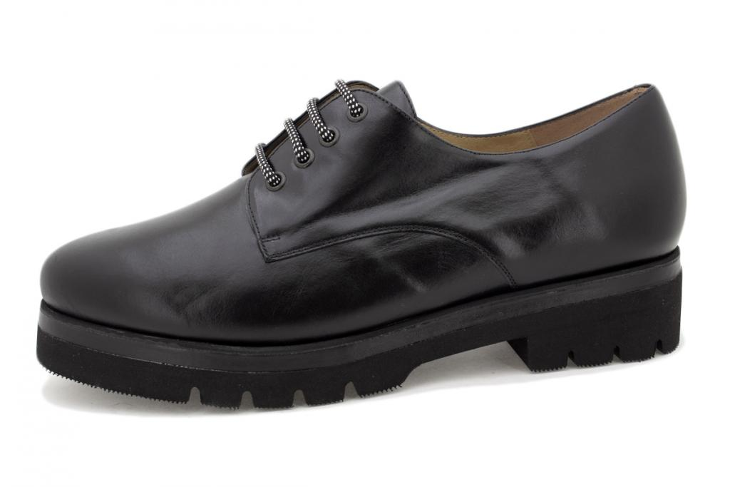 Lace-up shoe Black Leather 215675