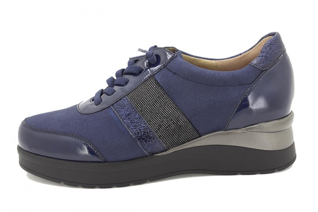 Lace-up shoe Blue Patent 215751