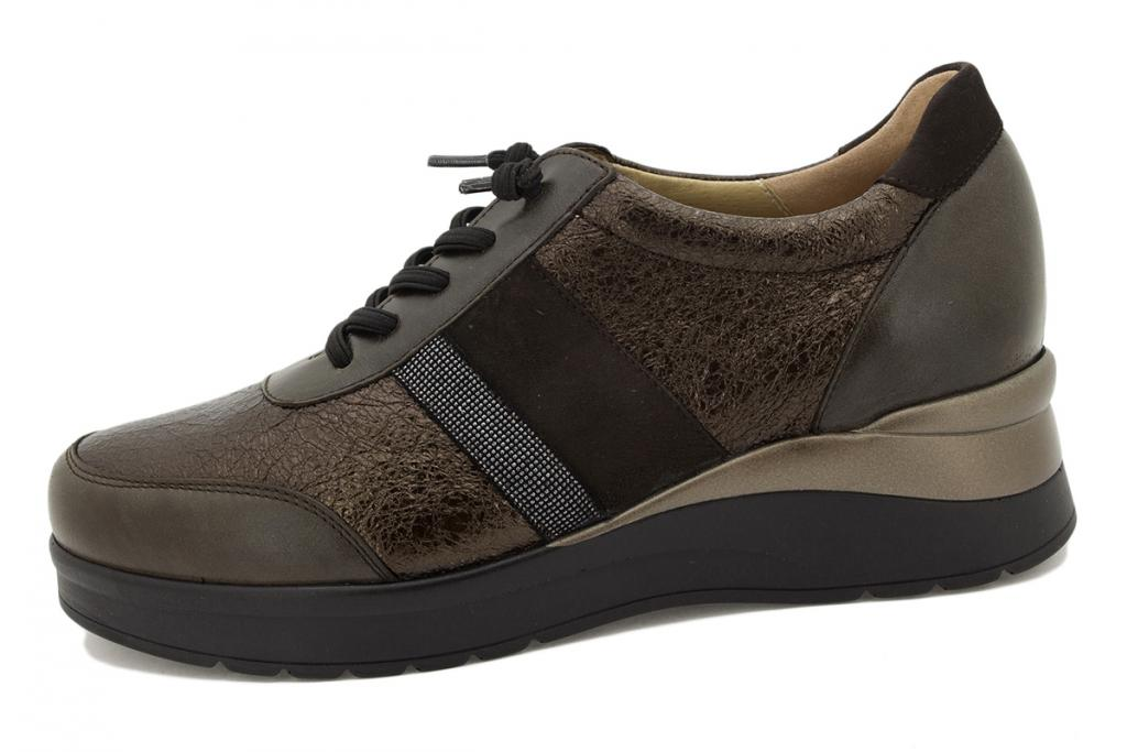 Lace-up shoe Brown Leather 215751