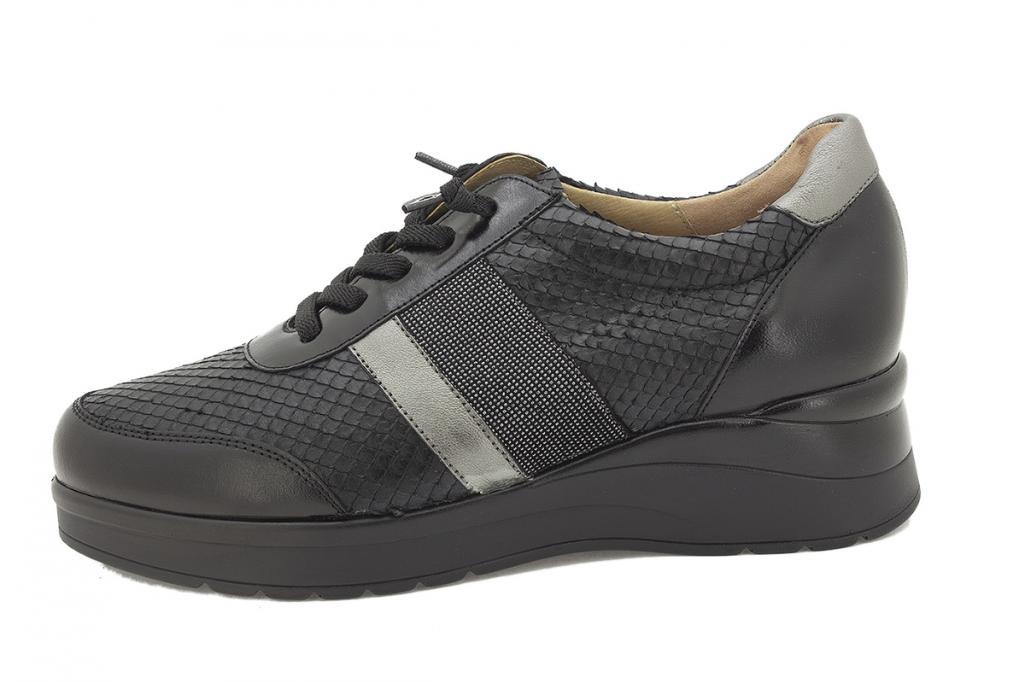 Lace-up shoe Black Leather 215751