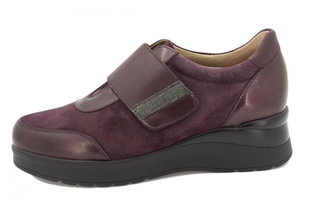 Velcro shoe Bordeaux Metal 215752