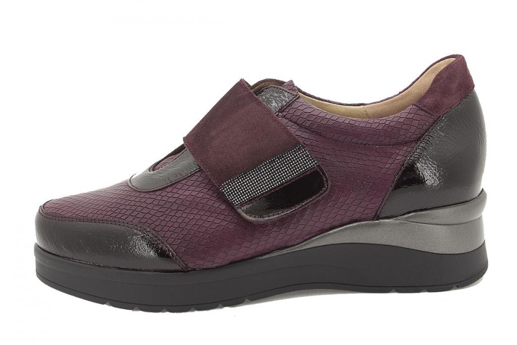 Velcro shoe Bordeaux Patent 215752