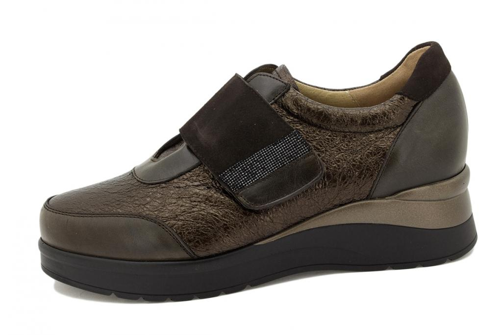 Velcro shoe Brown Leather 215752