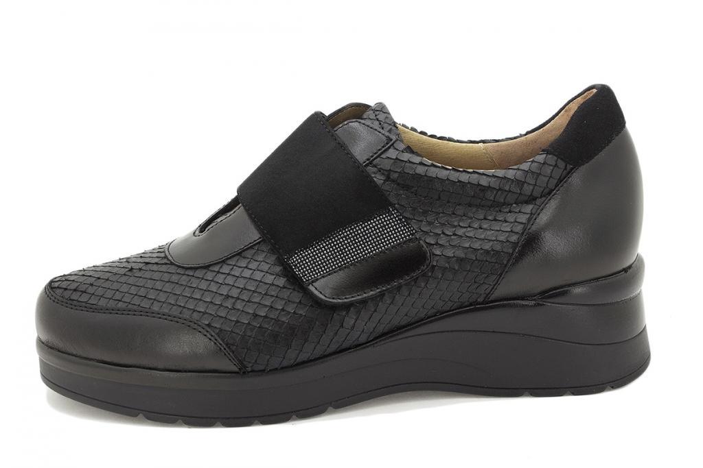 Velcro shoe Black Leather 215752