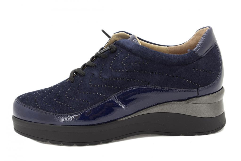 Lace-up shoe Blue Patent 215754