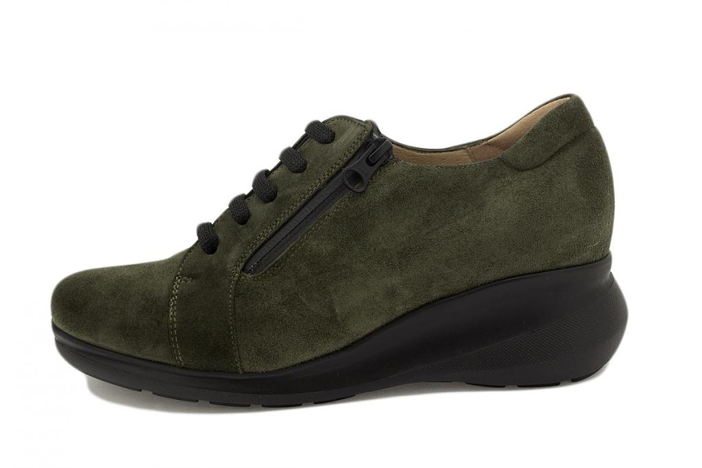 Lace-up shoe Green Suede 215825