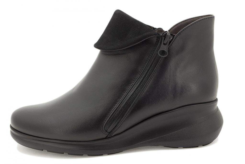 Ankle boot Black Leather 215857