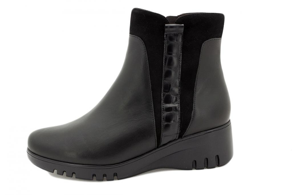 Ankle boot Black Leather 215902