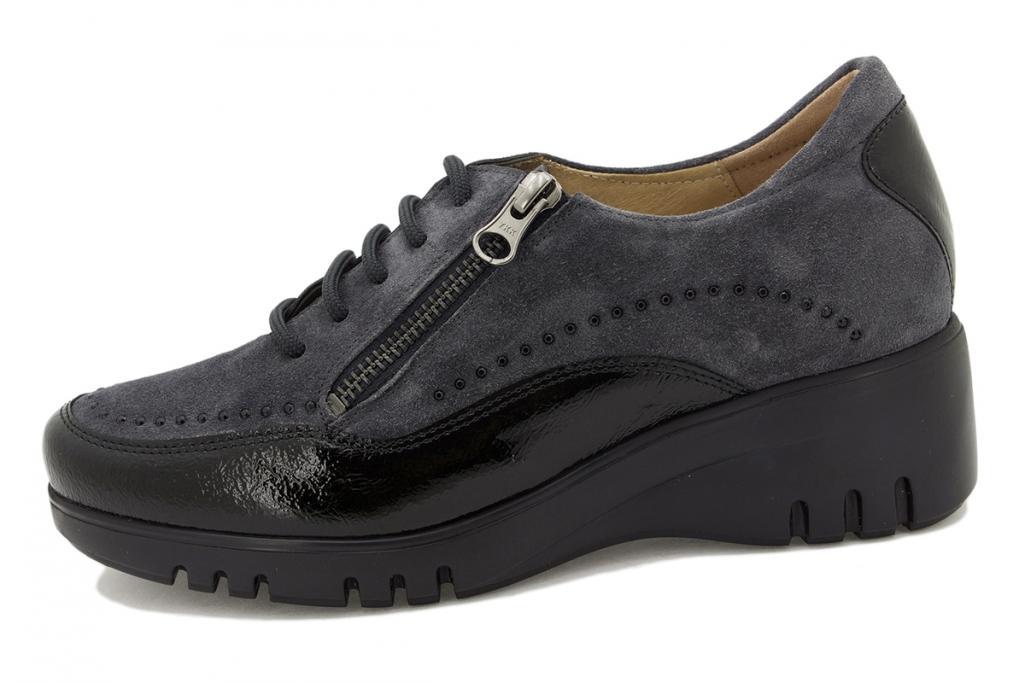 Lace-up shoe Blue Patent 215924
