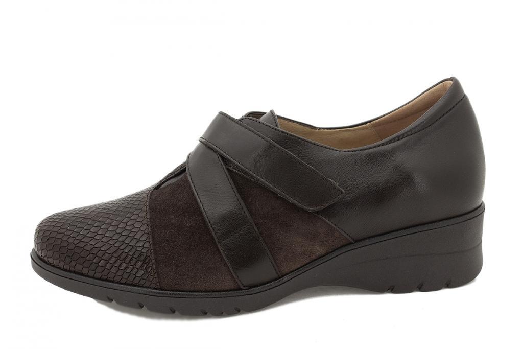 Velcro shoe Brown Snake 215956