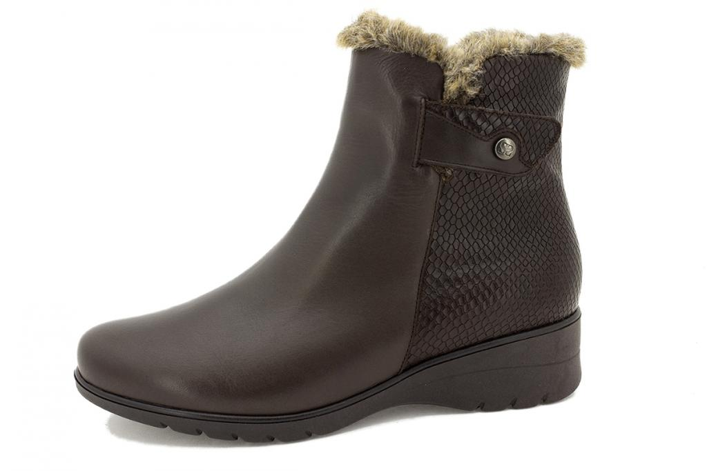 Ankle boot Brown Leather 215974