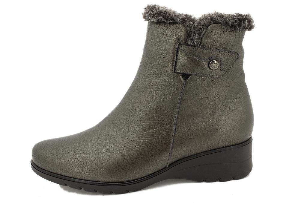 Ankle boot Green Leather 215974