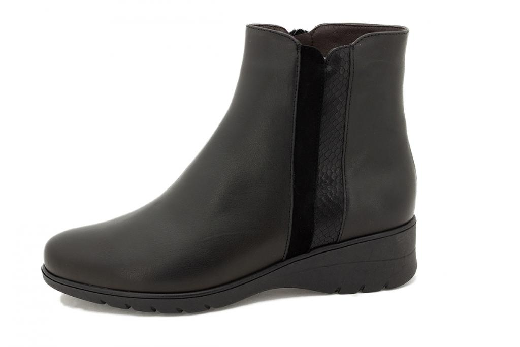Ankle boot Black Leather 215977