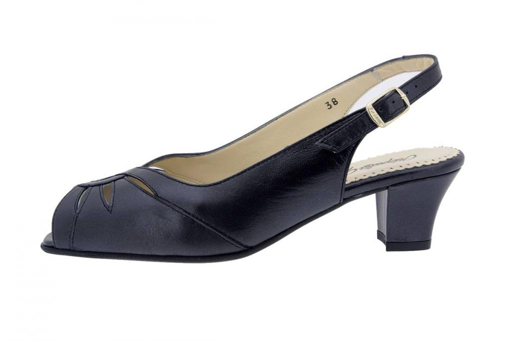 Heel Sandal Pearly Black 4015