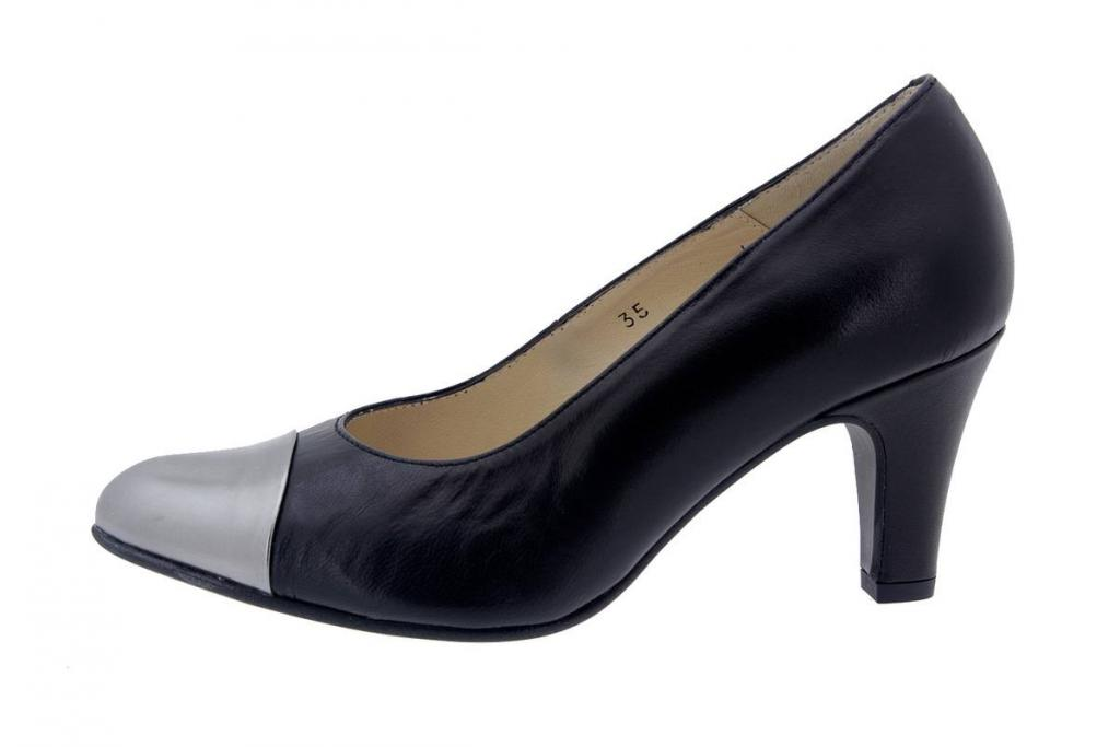 Court shoe Leather Black 4203