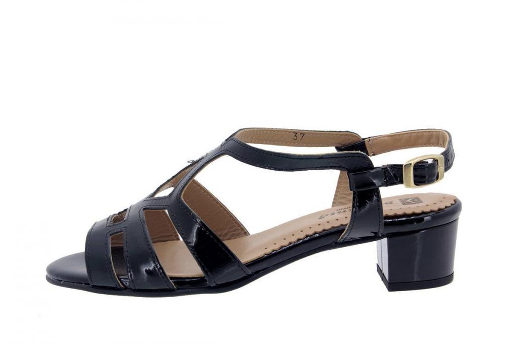 Heel Sandal Patent Black 4478
