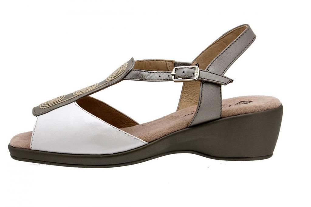Wegde Sandal Pearly Titanium 4573