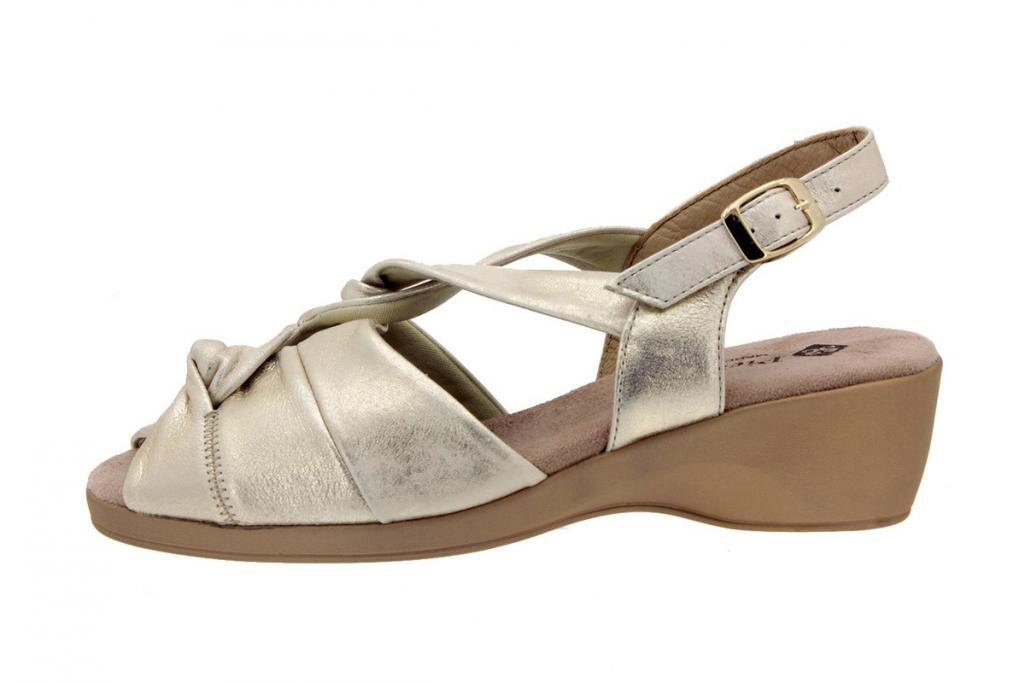 Wegde Sandal Metal Suede Beige 4581