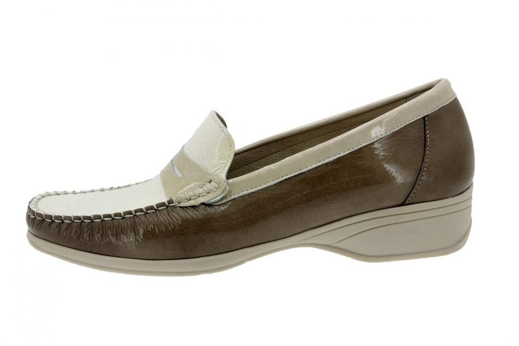 Moccasin Patent Taupe 4736