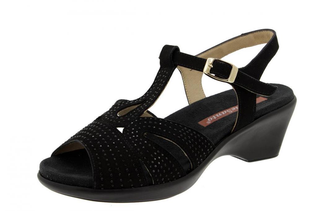 Removable Insole Sandal Suede Black 4863