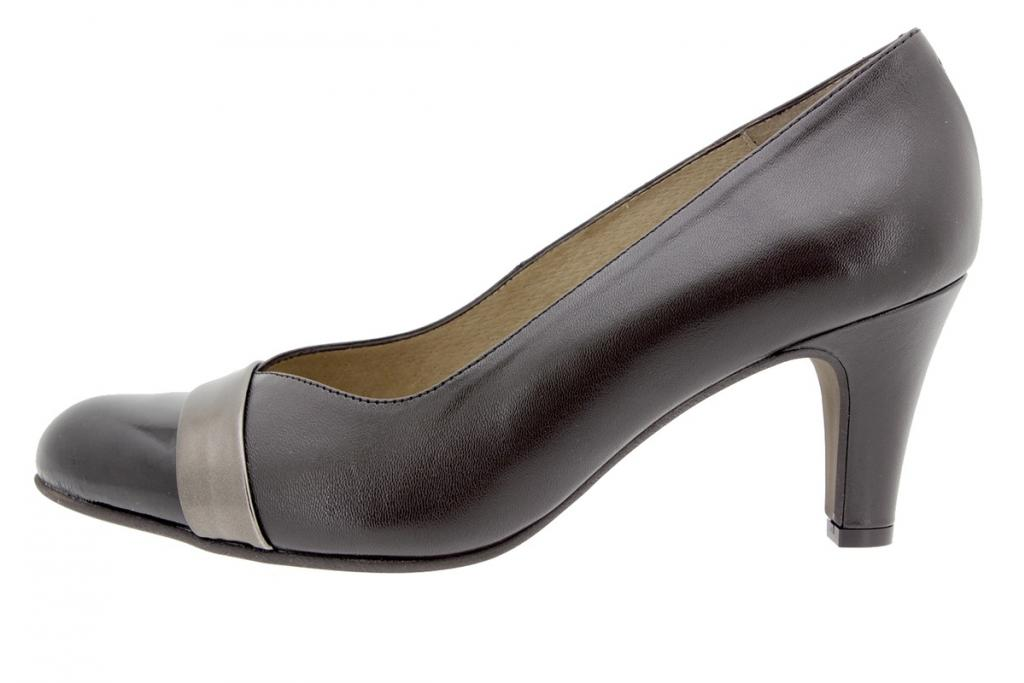 Court shoe Patent Brown 5204