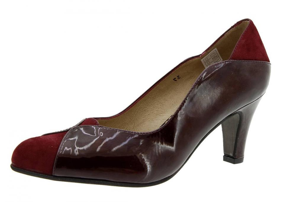 Court shoe Suede Bordeaux 5205