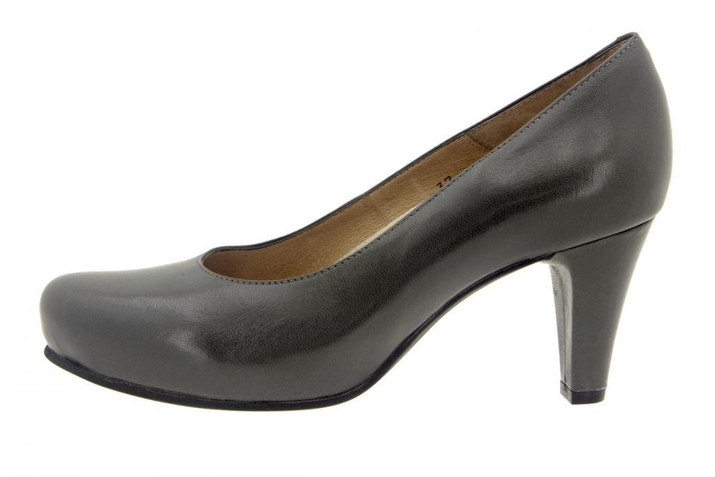 Court shoe Leather Grey 5225
