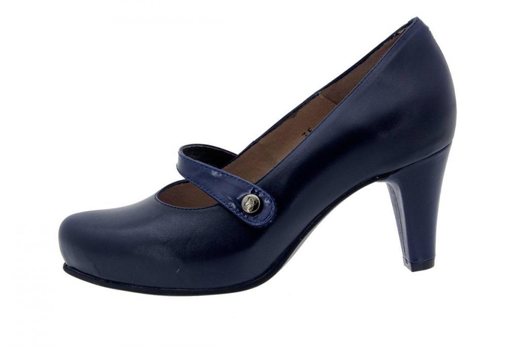 Mary-Jane Leather Blue 5227
