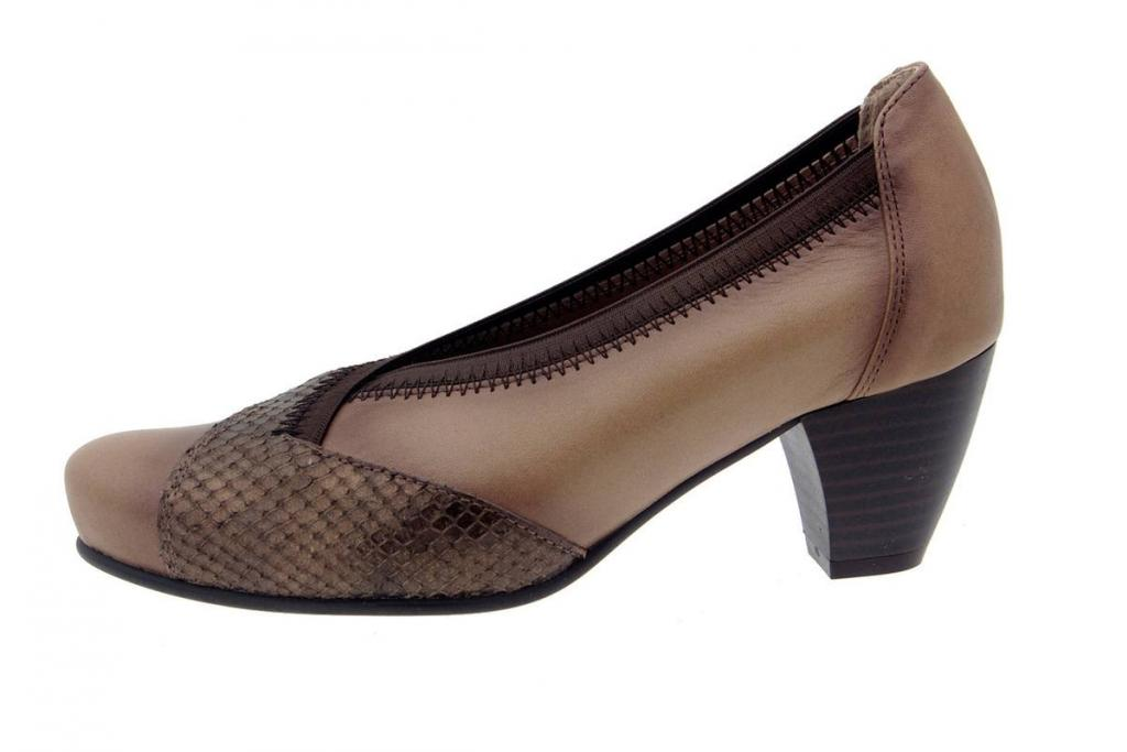 Court shoe Patent Taupe 5408