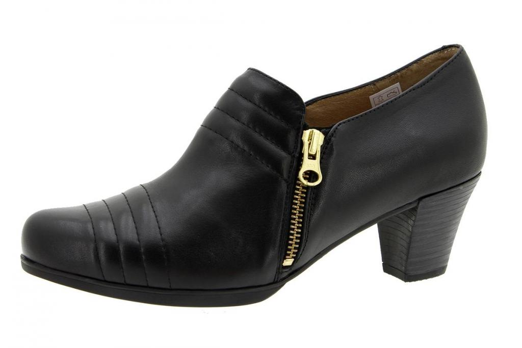 Bootee shoe Leather Black 5452