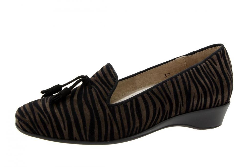 Moccasin Zebra Brown 5733