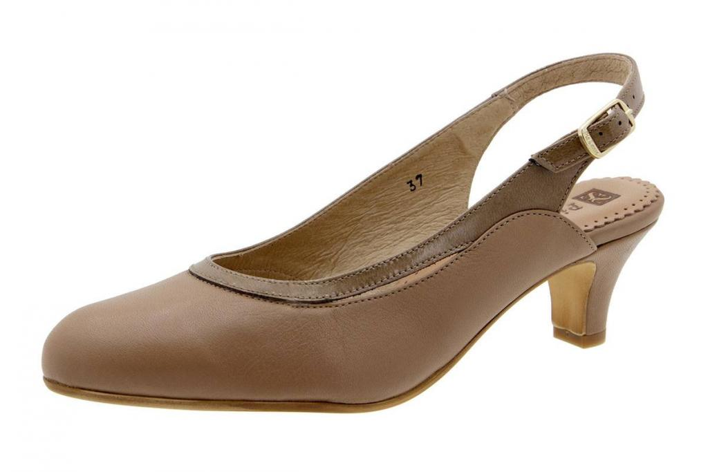 Court shoe Leather Sand 6231