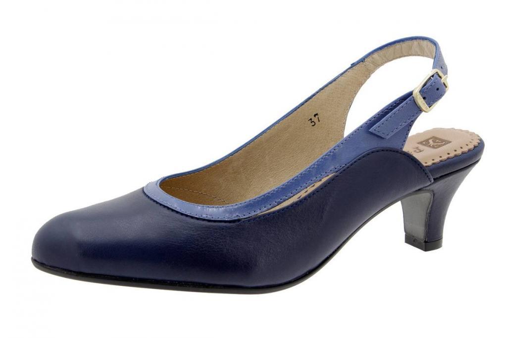 Court shoe Leather Blue 6231