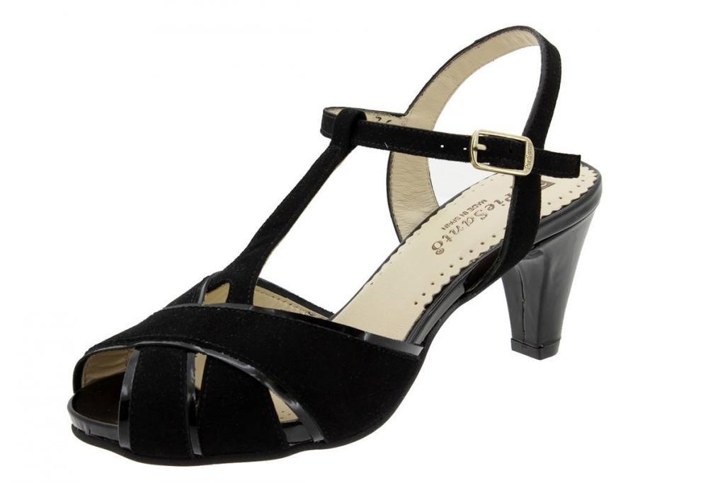 Heel Sandal Suede Black 6258
