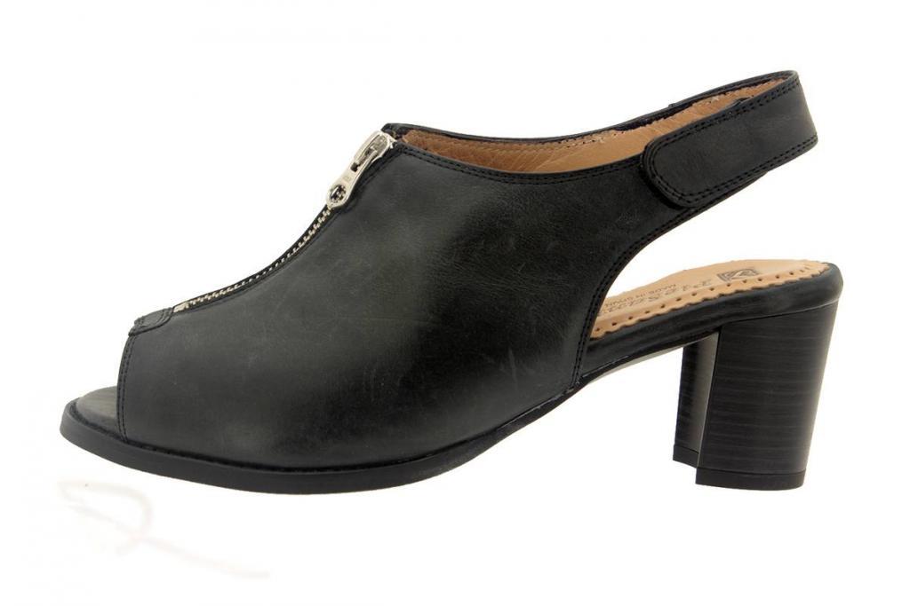 Heel Sandal Leather Black 6485