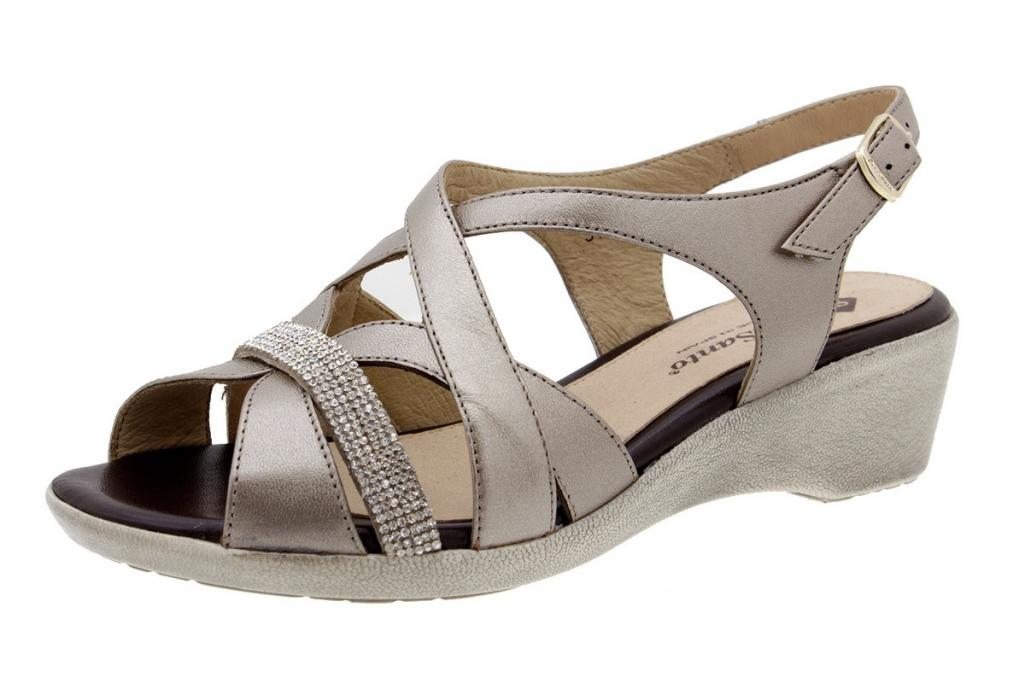 Wegde Sandal Pearly Titanium 6558